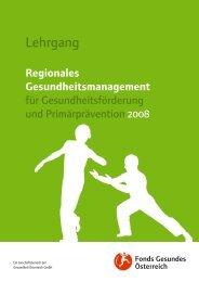 Regionales Gesundheitsmanagement - Fonds Gesundes Österreich