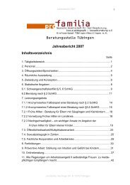 Jahresbericht Tübingen 2007 (PDF) - pro familia Tübingen