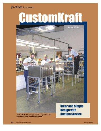 Featured Magazine Article - CustomKraft