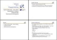 Vorkurs C++ Programmierung