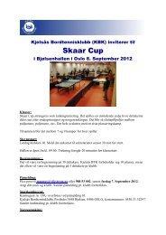 Innbydelse Skaar Cup 2012