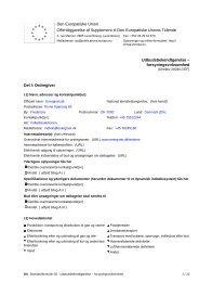 Den Europæiske Union Offentliggørelse af ... - Energinet.dk