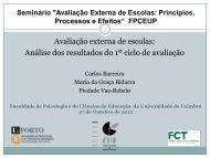 Avaliação externa de escolas: Análise dos resultados do 1º ciclo de ...