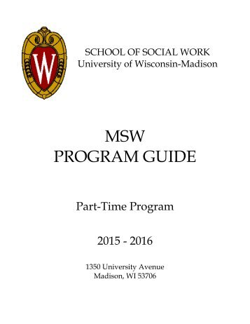 Part-Time MSW Program Guide - The School of Social Work
