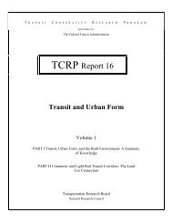 TCRP Report 16: Transit and Urban Form - Transportation Research ...