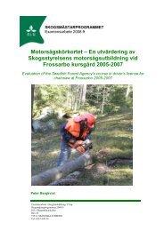 examensarbete av Peter Bergkvist - Säker Skog