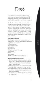 Gebrauchsanleitung Operating instructions Mode d ... - Air Naturel - Page 5