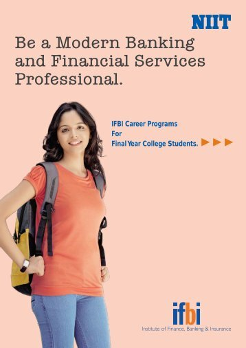 Be a Modern Banking and Financial Services Professional. - IFBI.com
