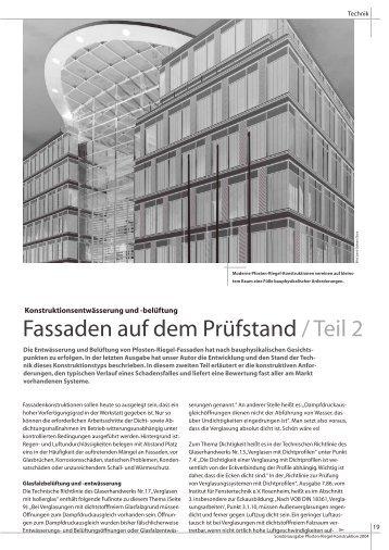 Fassaden auf dem Prüfstand / Teil 2 - IFF-Dreising