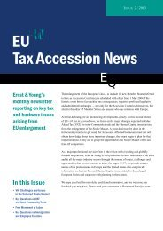 EU Tax Accession News - Ernst & Young