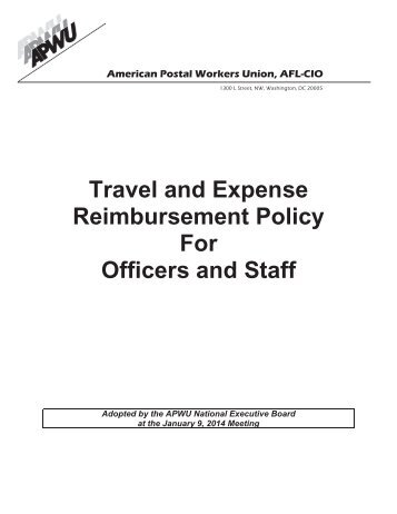 expense form and mileage log for apwu national officers and staff