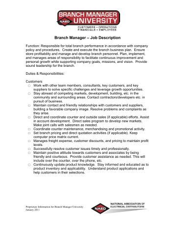 credit manager job description pdf