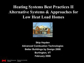 Residential Heating Systems: Options & Design - Efficiency Vermont