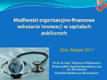 Możliwości organizacyjno-finansowe wdrażania innowacji w ...