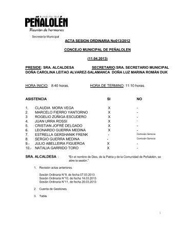 Acta 13 - Transparencia y Acceso a la Información Pública