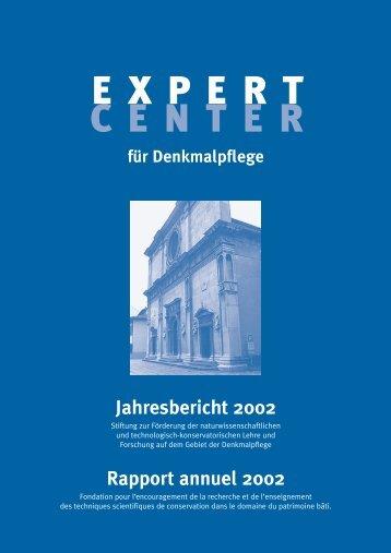 Jahresbericht 2002 - Berner Münster-Stiftung