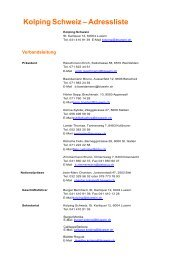 Kolping Schweiz – Adressliste