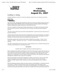 Looking vs. seeing - The Daily of the University of ... - Amir Zaki