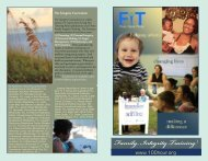 Everyone - FAMILY INTEGRITY TRAINING 100 Hour Curriculum