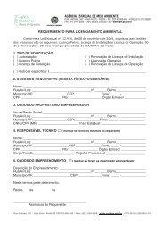 Formulário para atividade de retirada de entulhos e coleta ... - CPRH