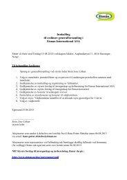 Innkalling til ordinær generalforsamling i Etman International ASA