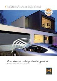 Motorisations de porte de garage - Forma-Bloc Portes de garage ...