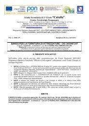 Centro Territoriale Permanente BANDO PER LA FORNITURA DI ...