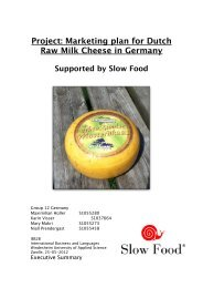 Marketing Plan For Dutch Raw Milk Cheese In Germany - Slow Food ...