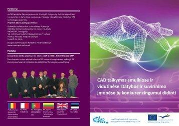 CAD taikymas smulkios statybos ir suvirinimo e ir vidutinėse ...