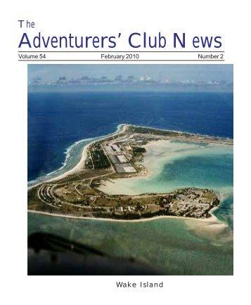 Adventurers' Club News Feb 2010 - The Adventurers