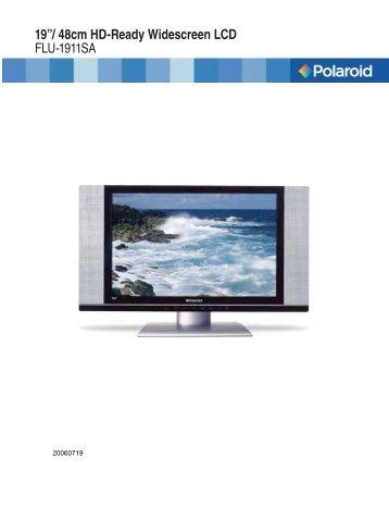 flm 1911 manual 20060322 indd polaroid lcd tv rh yumpu com polaroid hdtv manual tlx 04011c Panasonic Flat Screen TV Manuals