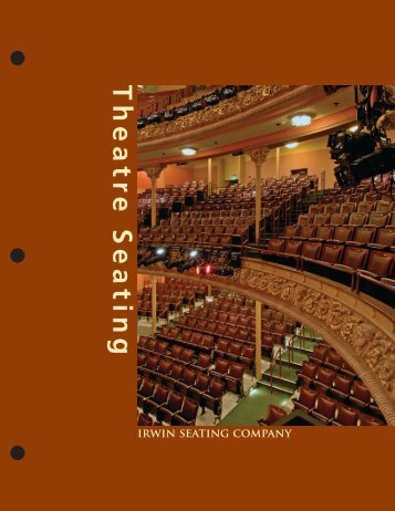 Irwin Theatre Seating Catalog - Longo Schools