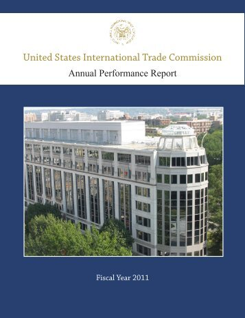 FY 2011 Annual Performance Report [PDF] - USITC