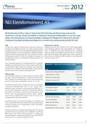 NLI Eiendomsinvest AS - Pareto Project Finance