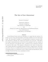 arXiv:hep-th/0303031 v2 21 Apr 2003 - Pacific Institute of ...