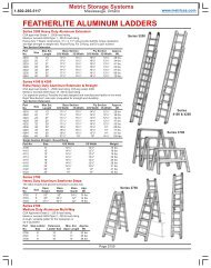 Extension Ladders - Metric Storage Systems