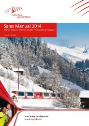 Sales Manual 2014 - Glacier Express