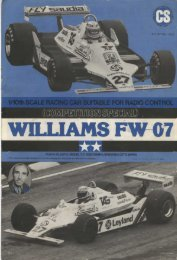 Tamiya Williams FW-07 Manual - CompetitionX.com