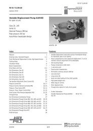 Variable Displacement Pump A10VSO - Group VH A/S