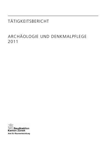Taetigkeitsbericht 2011 - Amt für Raumentwicklung - Kanton Zürich