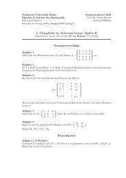5. ¨Ubungsblatt zur Vorlesung Lineare Algebra II ...
