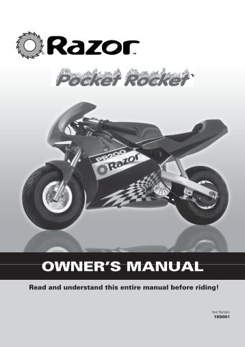 Owners Manual Pocket Rocket - V is for Voltage electric vehicle forum