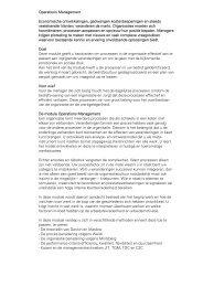 Operations Management Economische ontwikkelingen, gedwongen ...