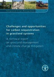 Challenges and opportunities for carbon sequestration in ... - FAO