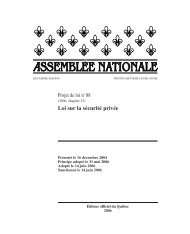 Projet de loi no 88 Loi sur la sécurité privée - Quebec