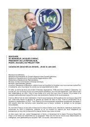 Le discours du président Jacques Chirac - CEA