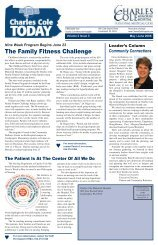 The Family Fitness Challenge - Charles Cole Memorial Hospital