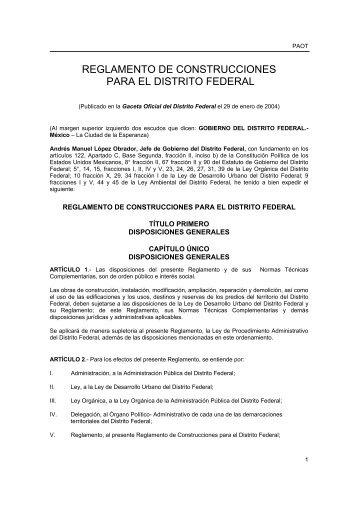 reglamento de construcciones para el distrito federal - Delegación ...