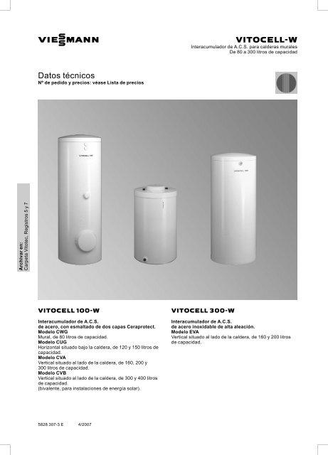 Datos técnicos - Viessmann