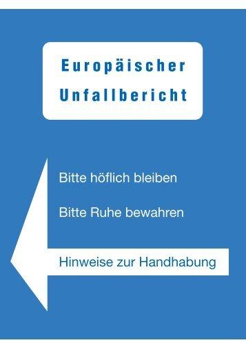 Europäischen Unfallbericht